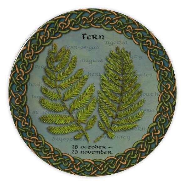 Tree Calendar Fern China Plate