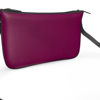 dark purple pochette bag