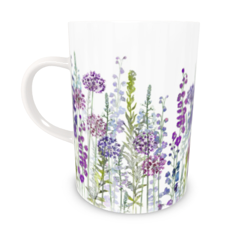 Tall Bone China Mug - Purple Rapture