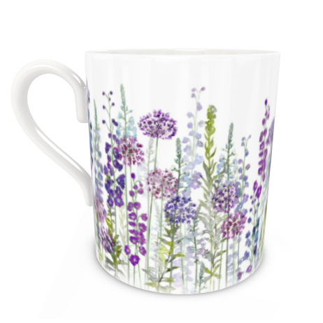 Large Bone China Mug - Purple Rapture