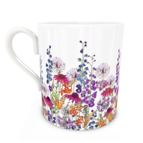 Large Bone China Mug - Summertime Symphony