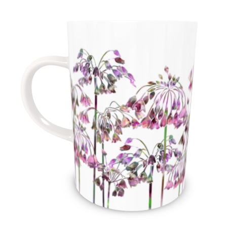 Tall Bone China Mug - Allium Bells