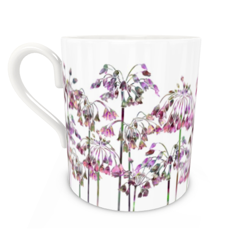 Large Bone China Mug - Allium Bells
