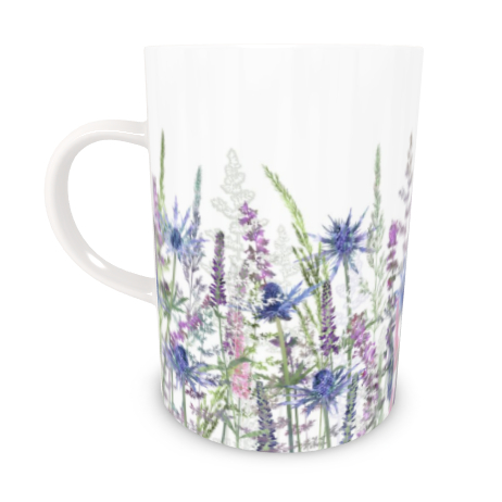 Tall Bone China Mug - Fairytale Meadow