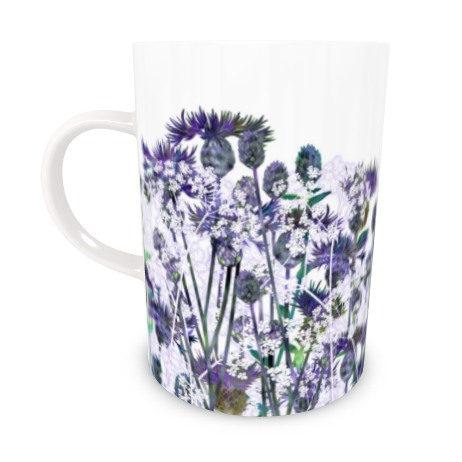 Tall Bone China Mug - Heavenly Hedgerow