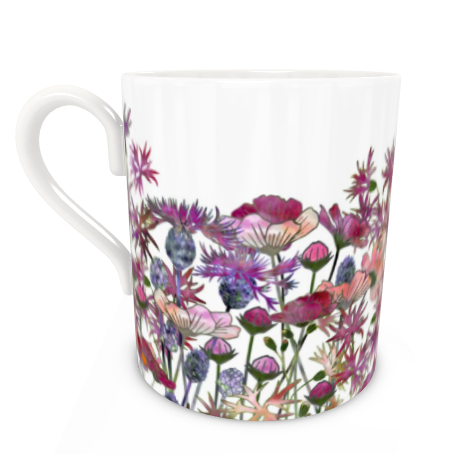 Large Bone China Mug - Wild At Heart