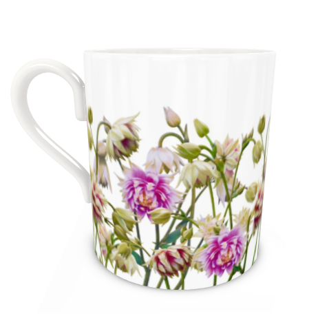Large Bone China Mug - Aquilegia