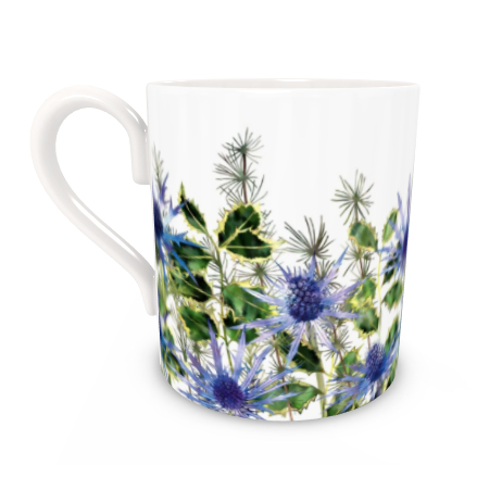 Regular Bone China Mug - Holly Bouquet