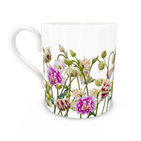 Regular Bone China Mug - Aquilegia