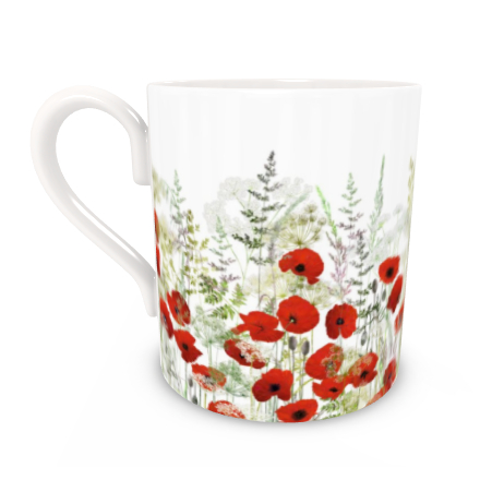 Regular Bone China Mug - Poppy Field