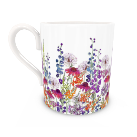 Regular Bone China Mug - Summertime Symphony