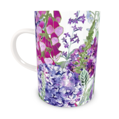 Tall Bone China Mug - Summer Rhapsody