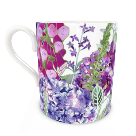 Large Bone China Mug - Summer Rhapsody