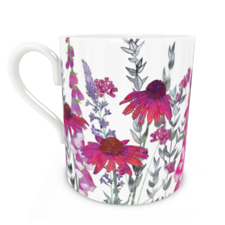 Large Bone China Mug - Pink Paradise
