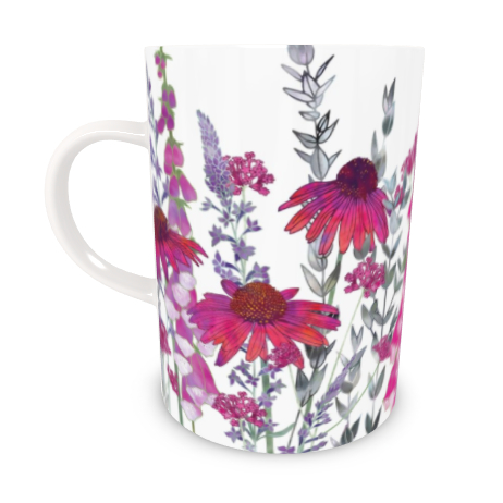 Tall Bone China Mug - Pink Paradise