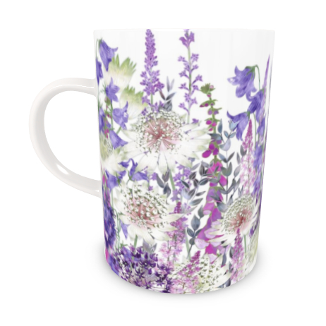 Tall Bone China Mug - Garden Of Wonder