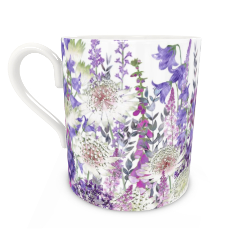 Large Bone China Mug - Garden Of Wonder