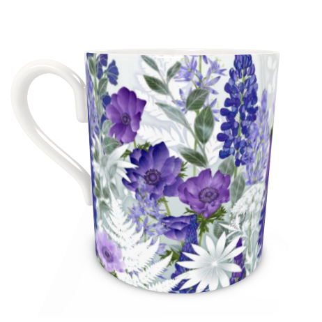 Large Bone China Mug - Daydream In Blue