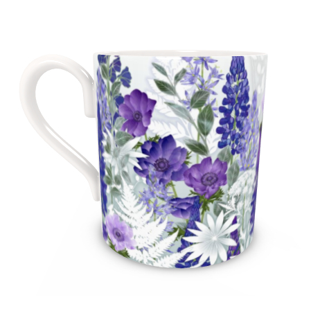 Regular Bone China Mug - Daydream In Blue