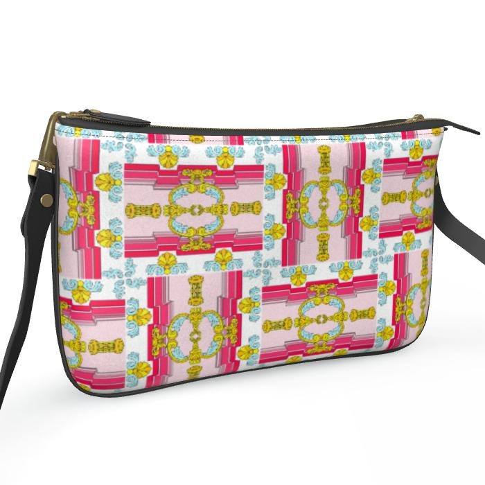 Roads of Barcelona - Pink - Zip Bag