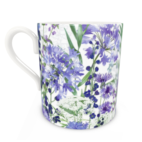 Large Bone China Mug - Agapanthus Meanderings