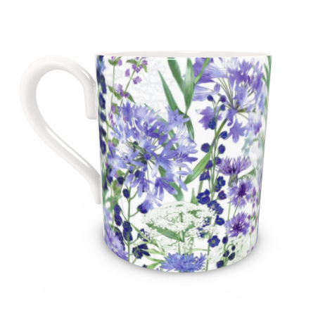 Regular Bone China Mug - Agapanthus Meanderings
