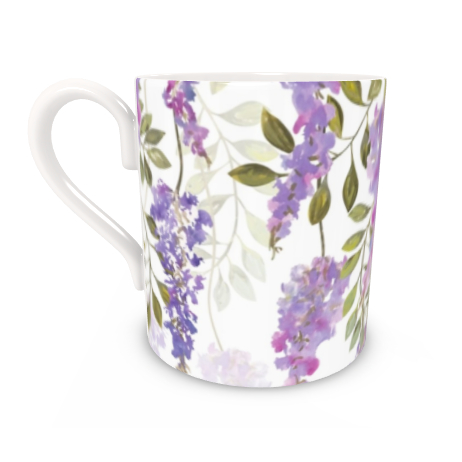 Regular Bone China Mug - Wisteria Blossoms