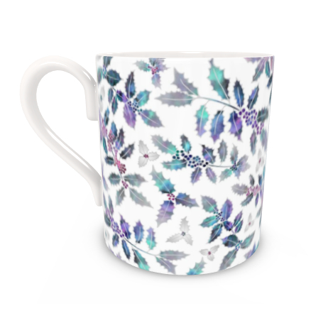 Regular Bone China Mug - Holly Madness