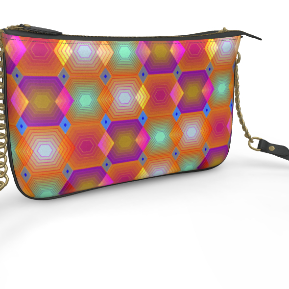 Geometrical Shapes Collection Pochette Double Zip Bag