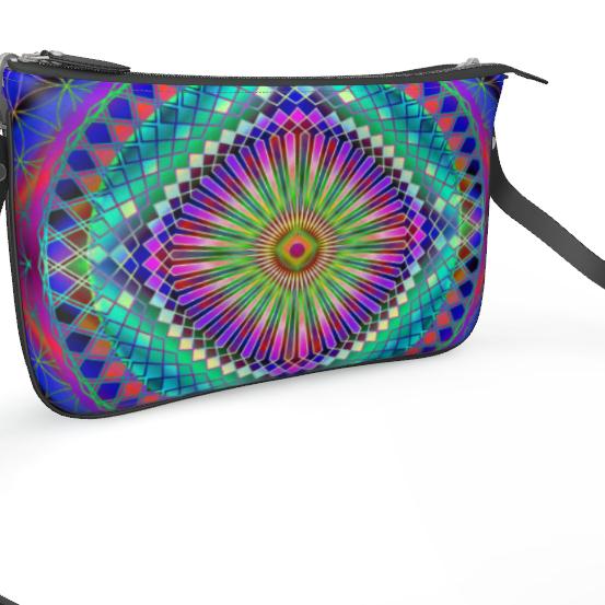 Pochette Double Zip Bag Sun Mandala