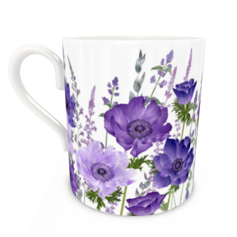 Large Bone China Mug - The Morning Anemone Patch