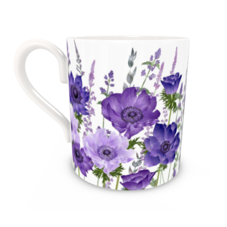 Regular Bone China Mug - The Morning Anemone Patch