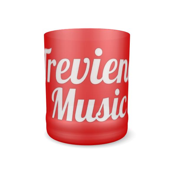 Trevieno Music Logo Glass