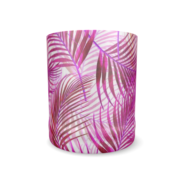 Tropical Garden Collection in Magenta Whisky Glass