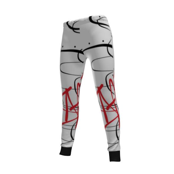 KEAA Spiral Red Womens Sweatpants