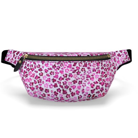 Leopard Skin in Magenta Collection Fanny Pack