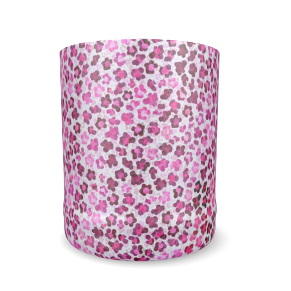 Leopard Skin in Magenta Collection Whisky Glass
