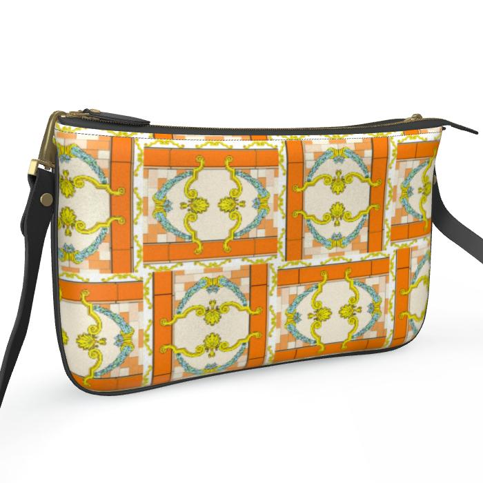 Roads Of Barcelona - Orange - Double Zip Bag