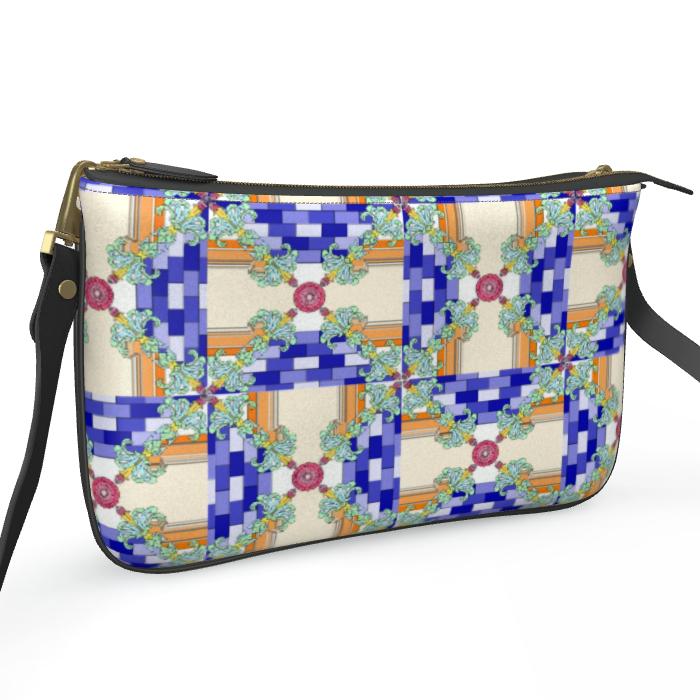 Roads of Barcelona - Oraue - Double Zip Bag