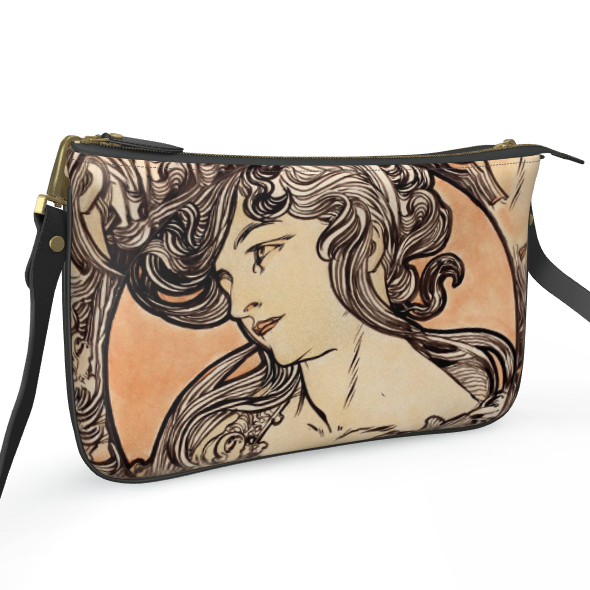 Pochette Double Zip Bag - Alphonse Maria Mucha Stained Glass #1