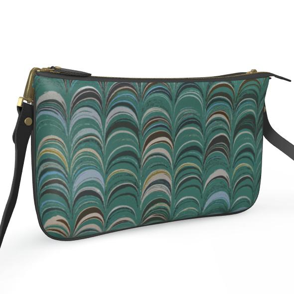 Pochette Double Zip Bag - Around Ex Libris Jade Remix (1800 -1950)