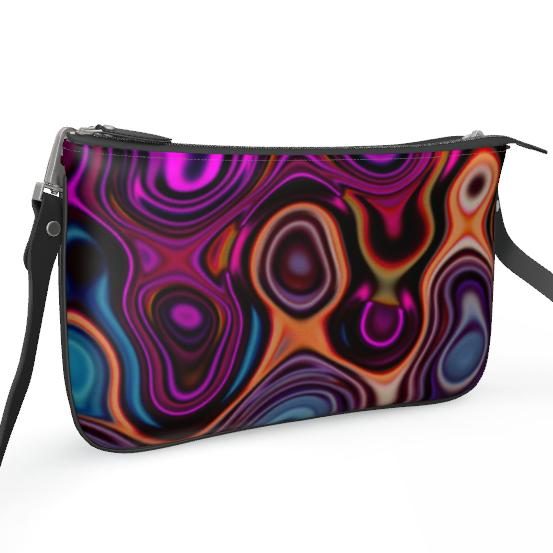 Pochette Double Zip Bag Fashion Circles 2