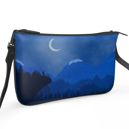 Pochette Double Zip Bag - Midnight Camping