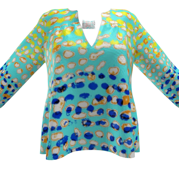 Textural Collection multicolored Womens Blouse