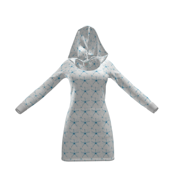 Sea Stars in Aqua Blue Collection Hoody Dress