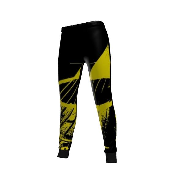 Yellow GiTar Design Sweat Pants