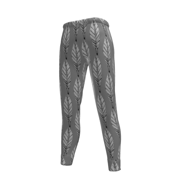 Black and White Feather Women's Jogging Bottoms