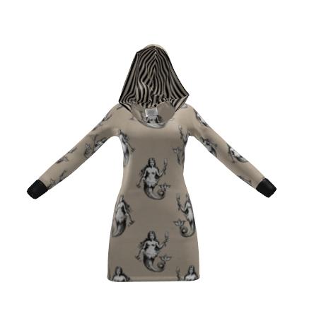 Mermaids Heraldic Ivory Beautiful Hoody Dress