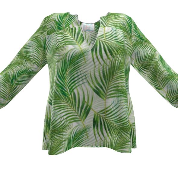 Tropical Garden Collection Womens Blouse