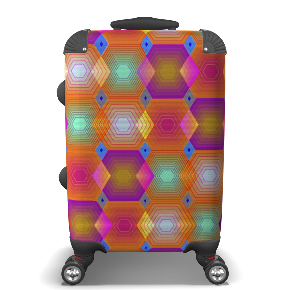 Geometrical Shapes Collection Suitcase